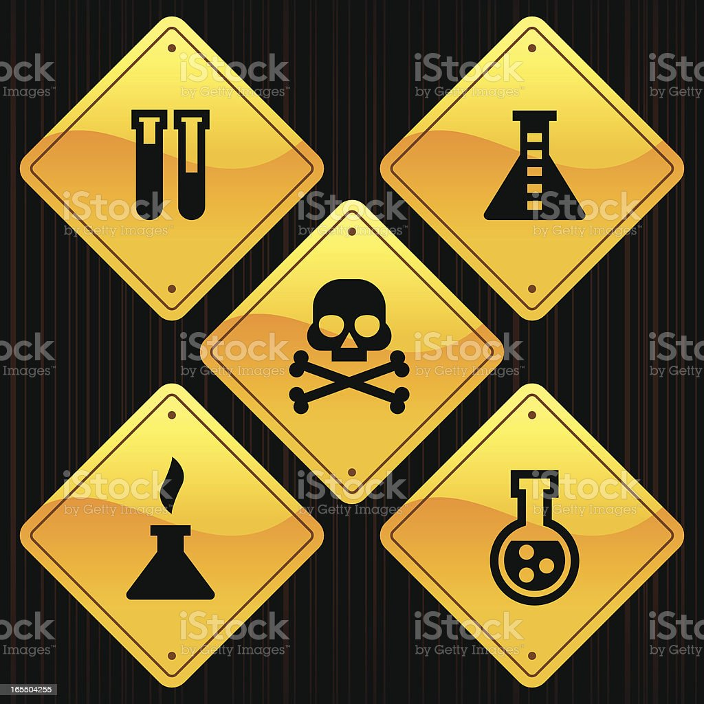 Yellow Signs - Science royalty-free stock vector art