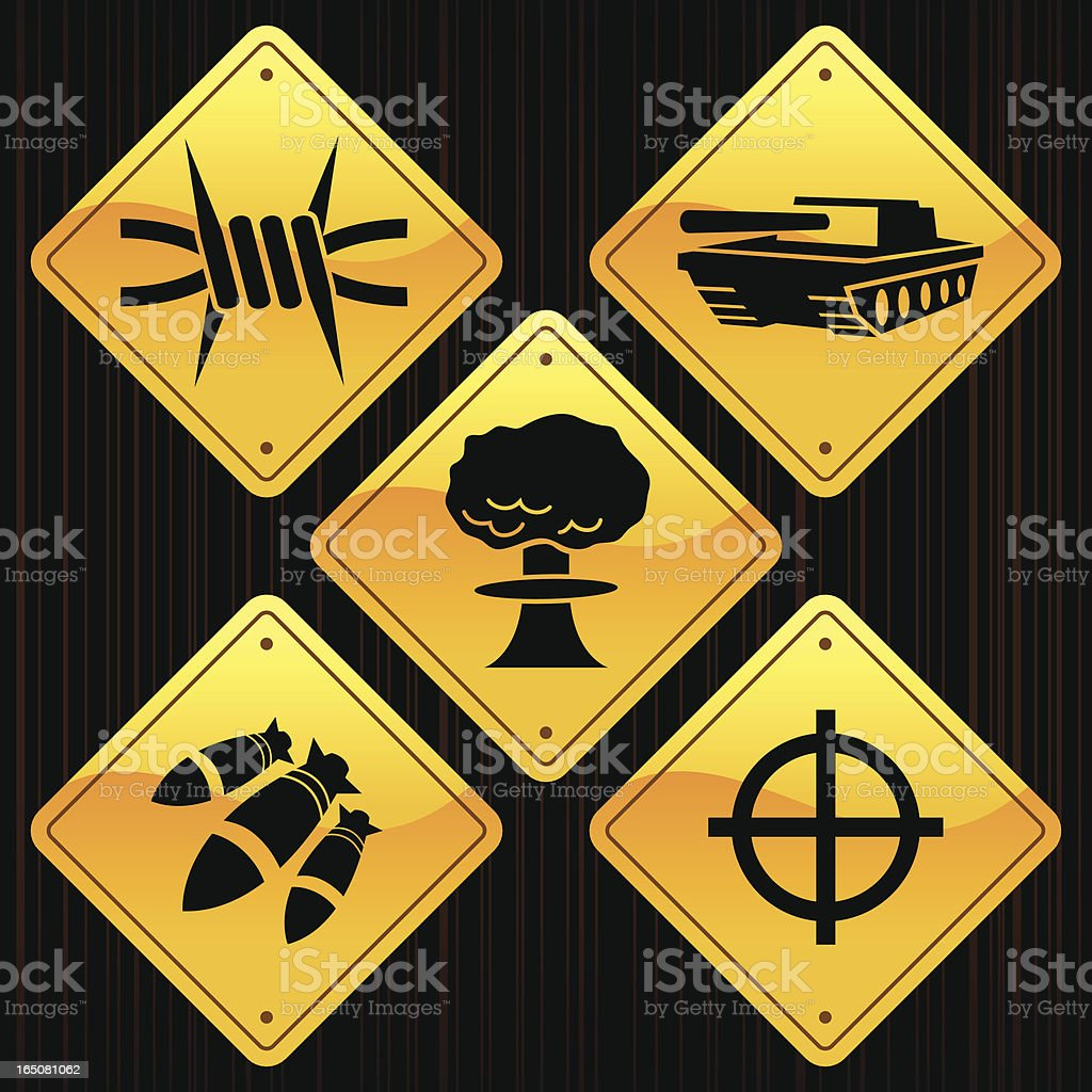 Yellow Signs - War royalty-free stock vector art