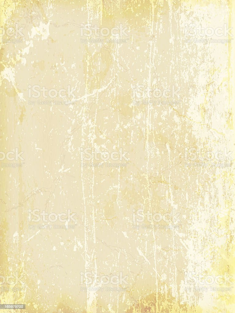 A yellow stained piece of aged paper background royalty-free stock vector art