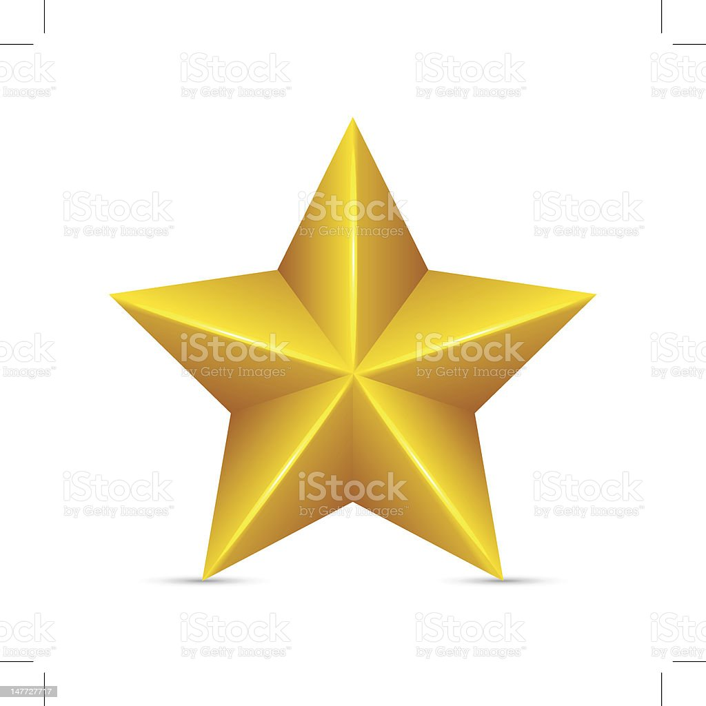 Yellow star with a white background royalty-free stock vector art