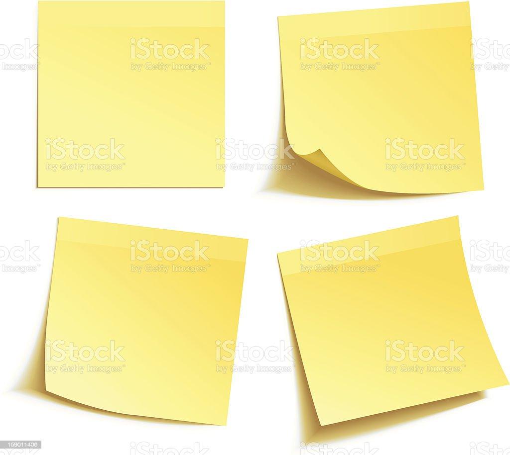 Yellow stick note stock photo