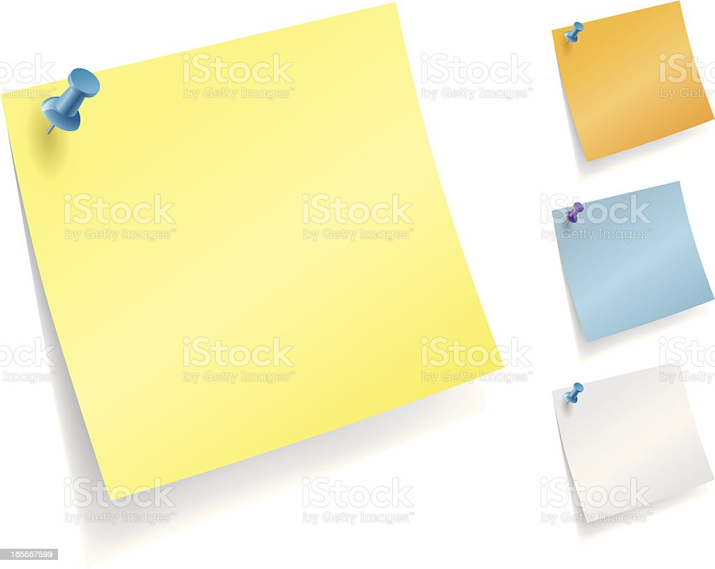 Yellow Sticky Note royalty-free stock vector art