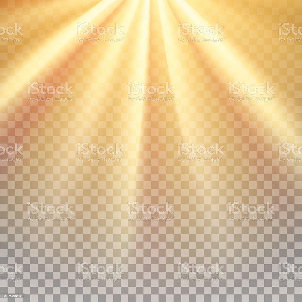 Yellow sun rays flare vector art illustration