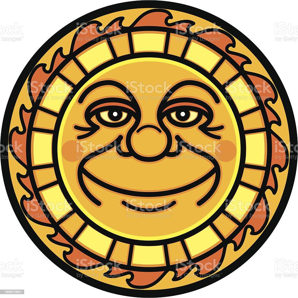 Yellow Sun vector art illustration