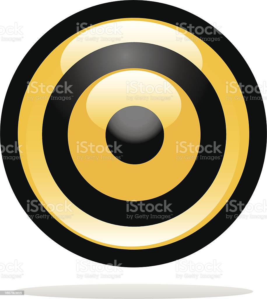 Yellow target icon royalty-free stock vector art