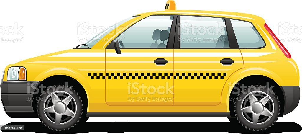 Yellow taxi royalty-free stock vector art