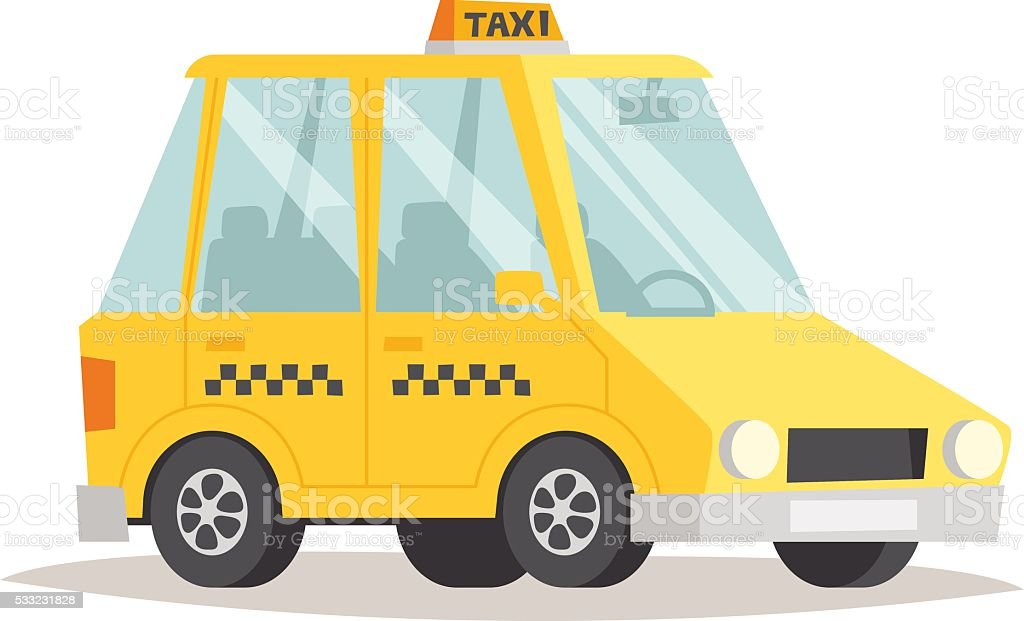 Yellow taxi vector illustration vector art illustration