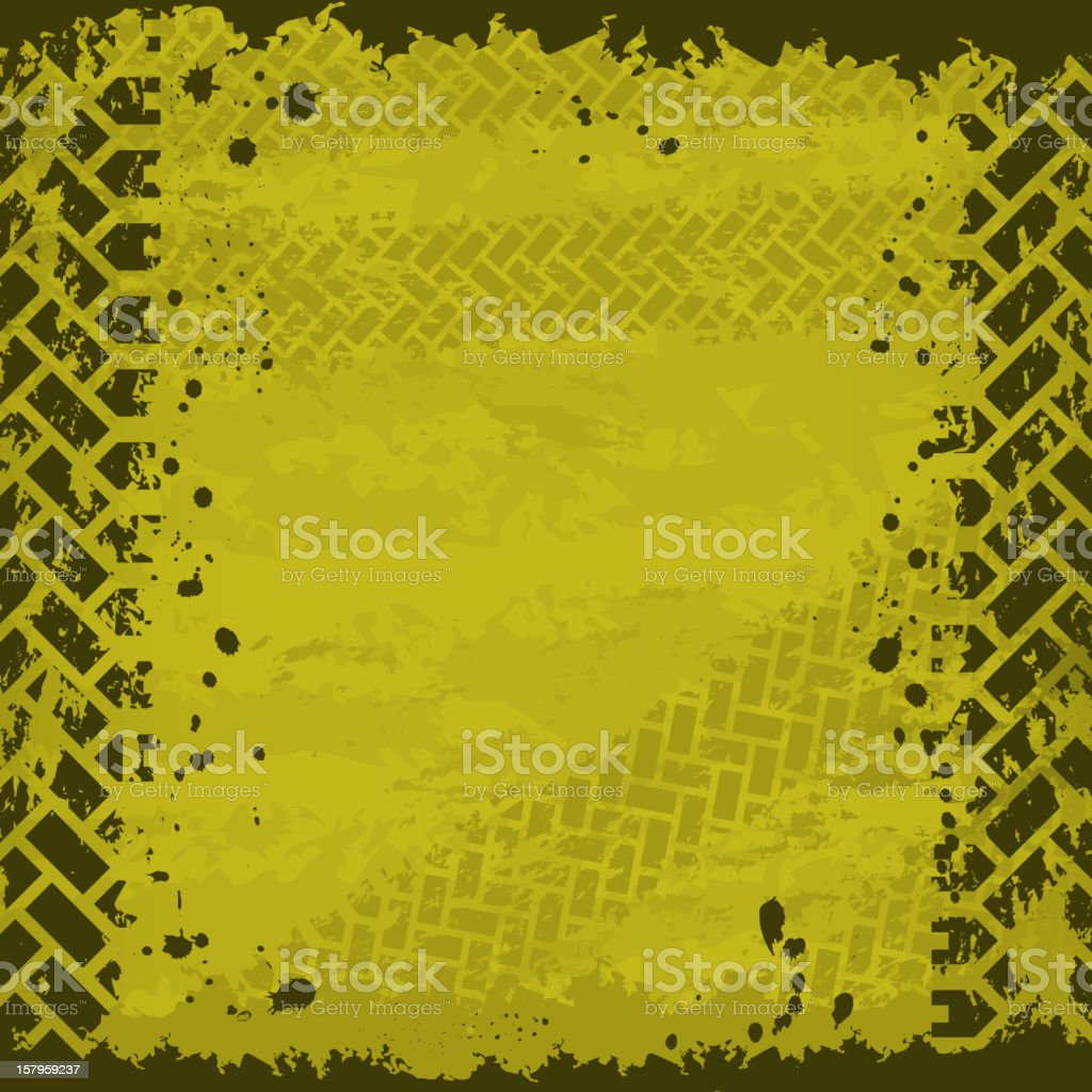 Yellow tire track background royalty-free stock vector art