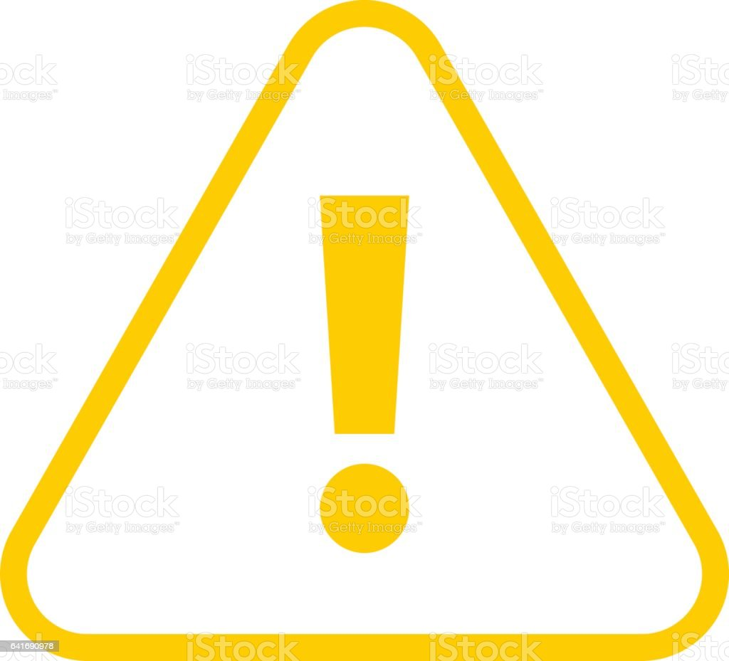 yellow triangle exclamation mark icon warning sign attention button illustrac. Black Bedroom Furniture Sets. Home Design Ideas