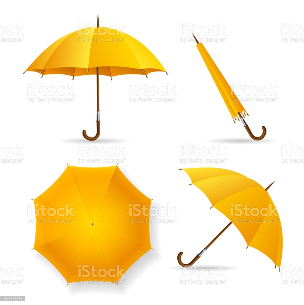 Gold Umbrella Clip Art, Vector Images & Illustrations - Istock