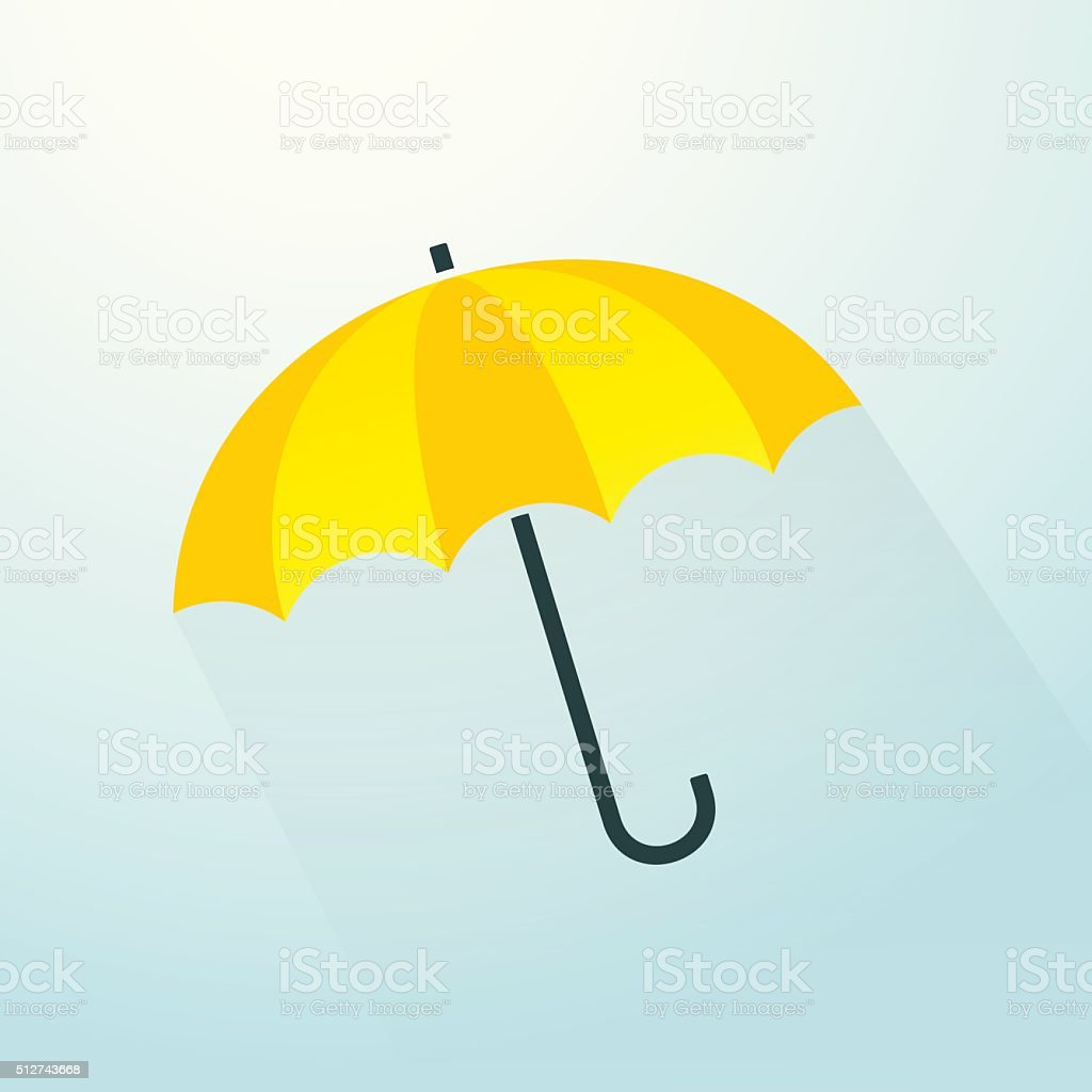 yellow umbrella vector art illustration