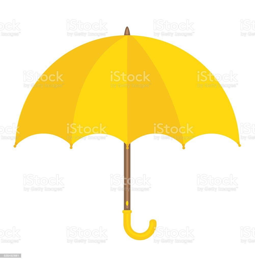 Yellow Umbrella vector art illustration