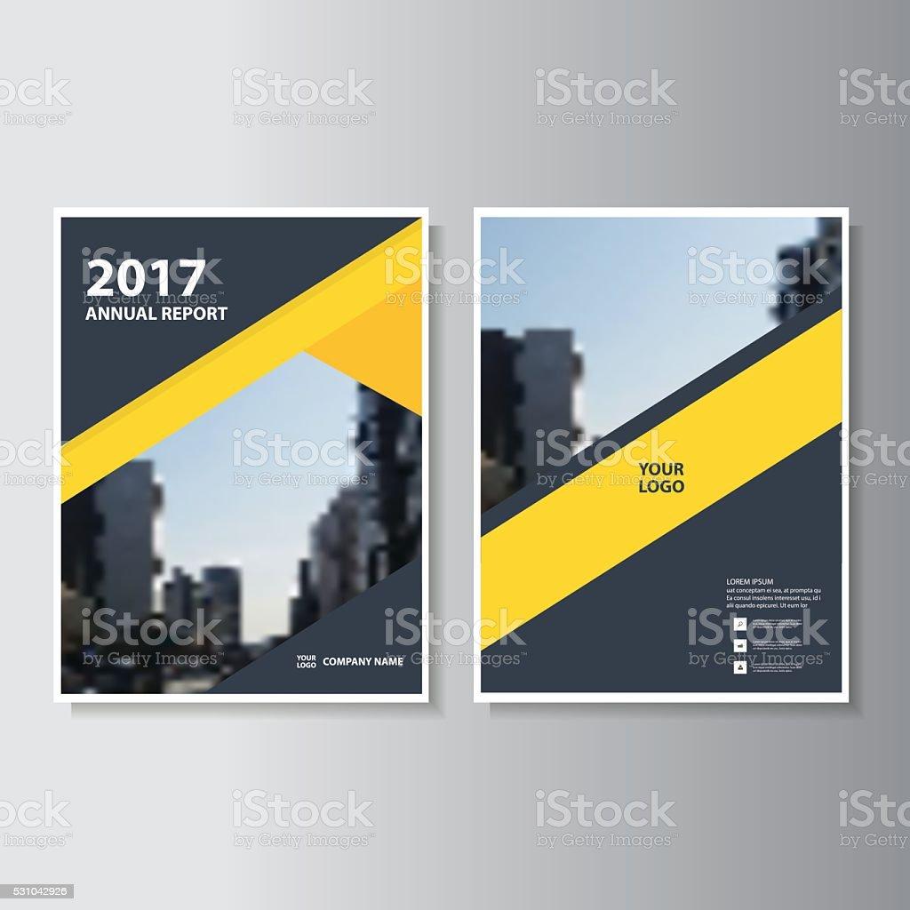Yellow Vector annual report Leaflet Brochure Flyer template design vector art illustration