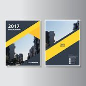 Yellow Vector annual report Leaflet Brochure Flyer template design