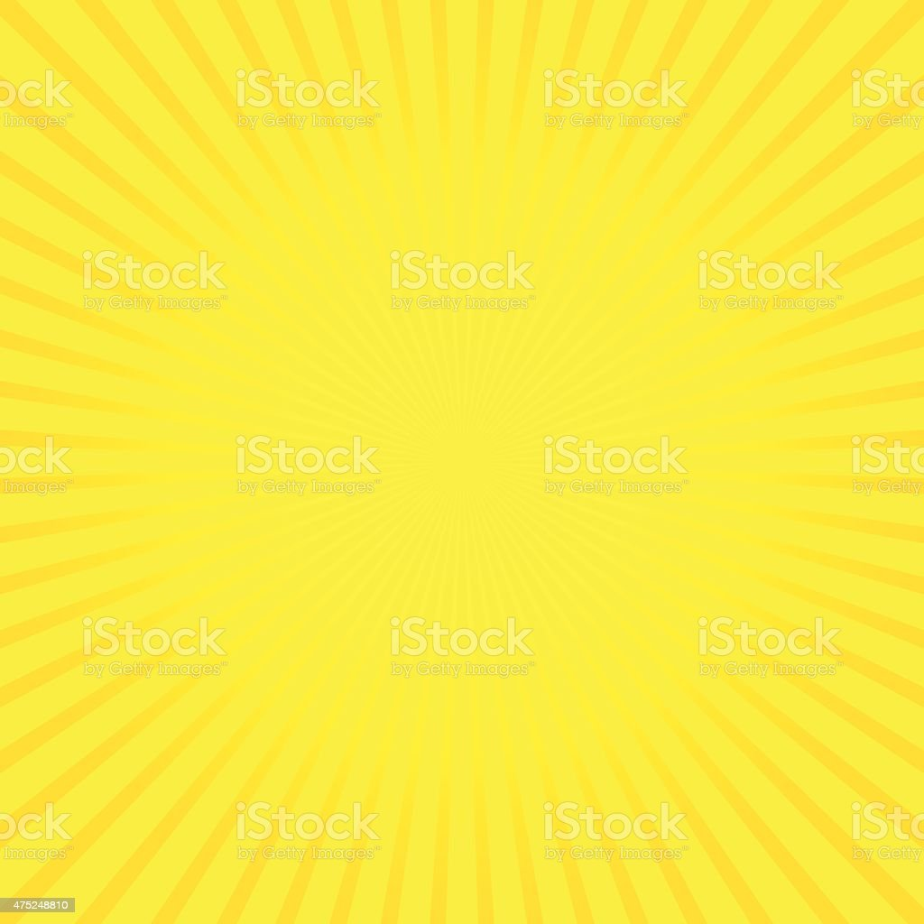 Yellow vector background of radial lines. vector art illustration
