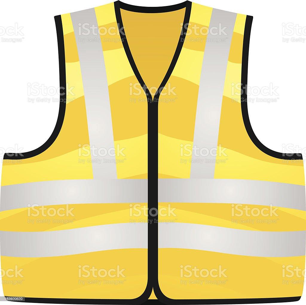 Yellow vest royalty-free stock vector art