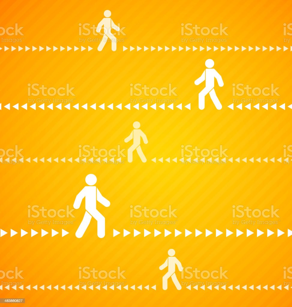 Yellow Walk background with stripes royalty-free stock vector art