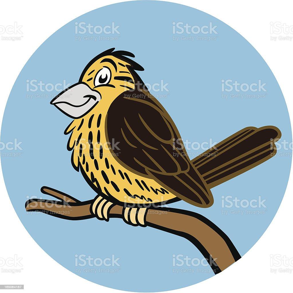 Yellowhammer Bird vector art illustration