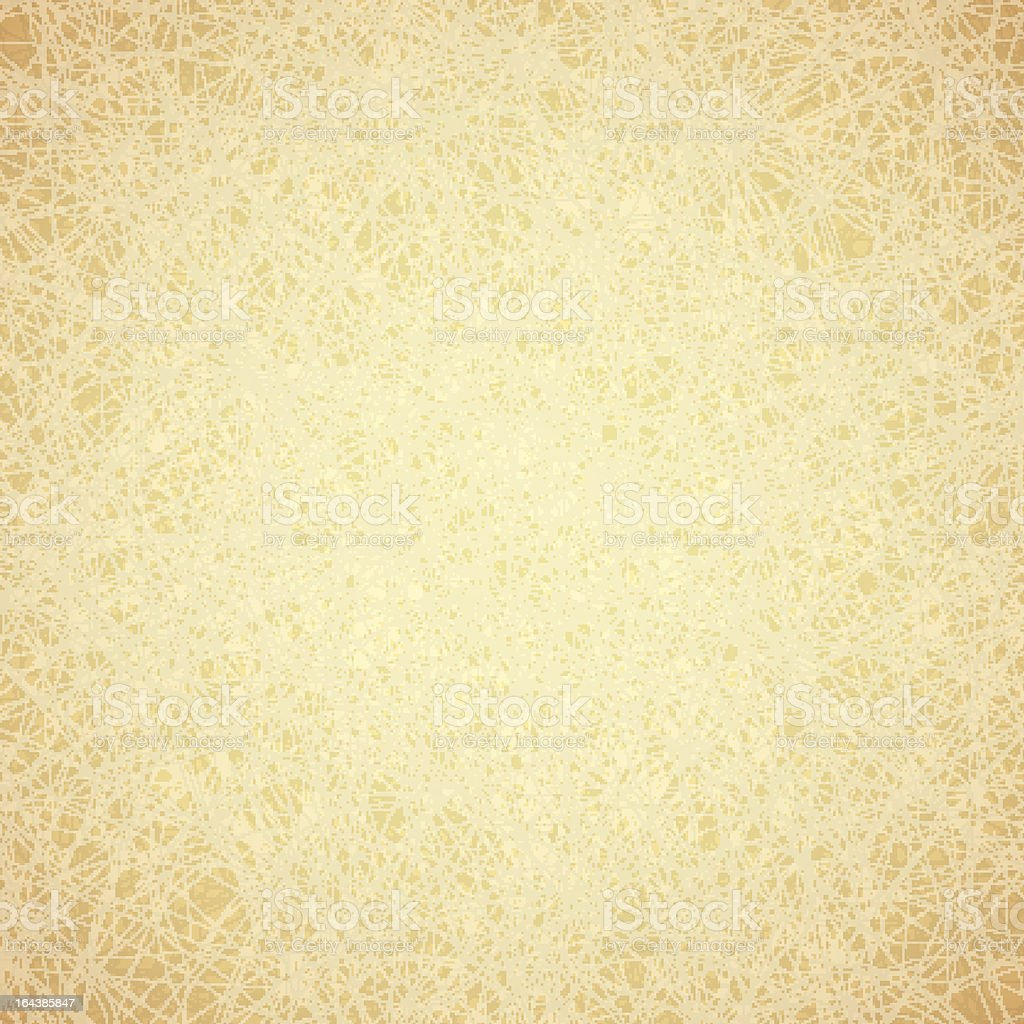 Yellowing vintage paper texture royalty-free stock vector art