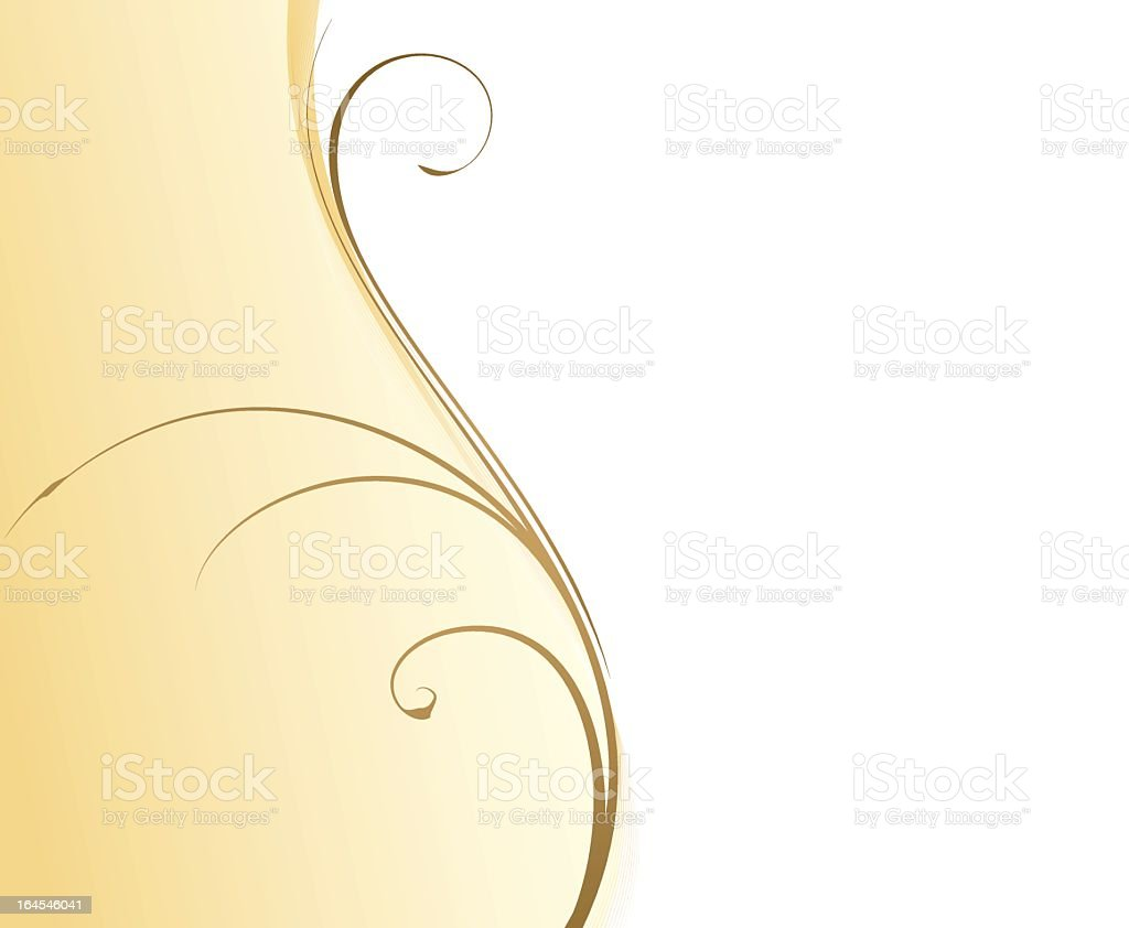 A yellowish-beige abstract wavy background with swirls royalty-free stock vector art