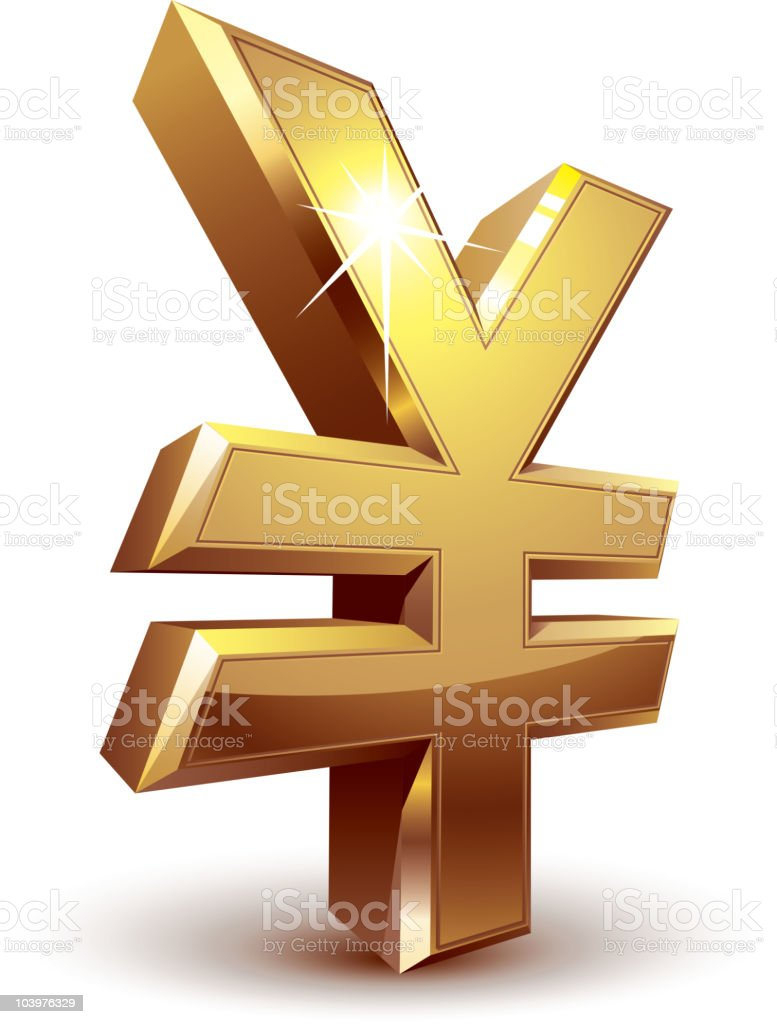 Yen symbol royalty-free stock vector art