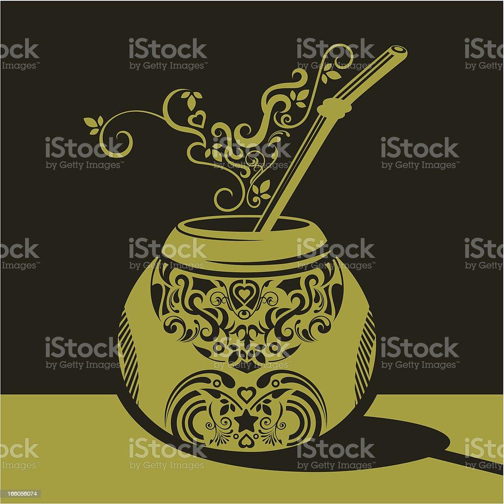 Yerba mate. royalty-free stock vector art