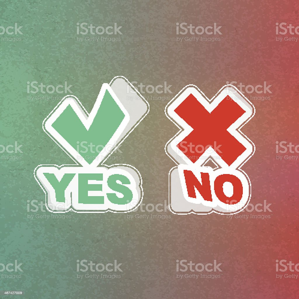 Yes and No icon. royalty-free stock vector art
