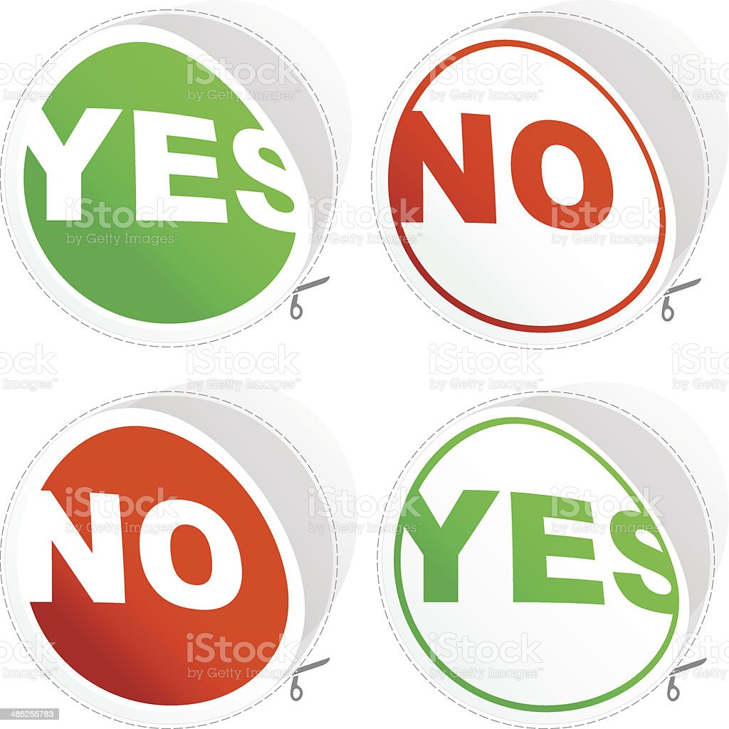 Yes and No royalty-free stock vector art