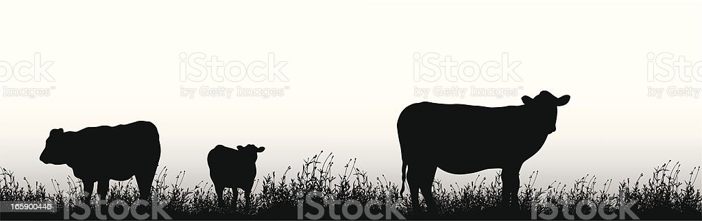 Yes Cows! Vector Silhouette royalty-free stock vector art