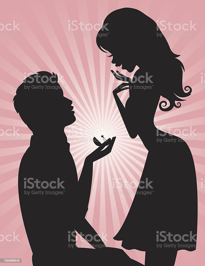 Yes I Will Proposal vector art illustration