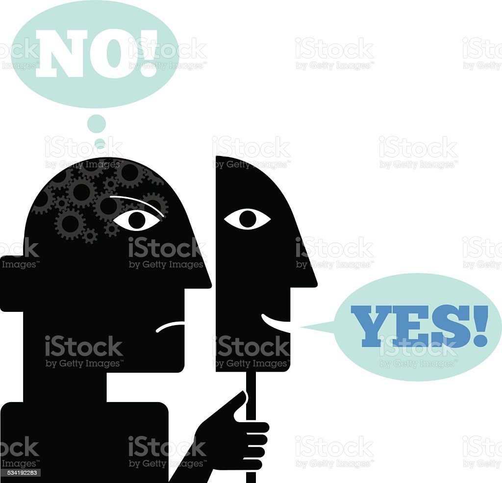 Yes No illustration vector art illustration