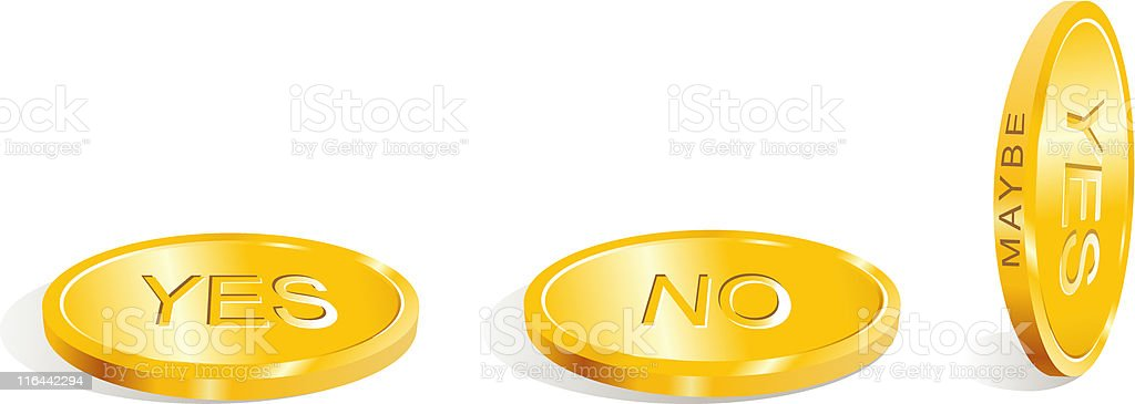 yes / no / maybe / Accept the decision / vector royalty-free stock vector art
