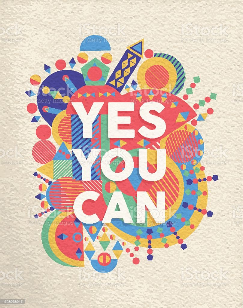 Yes you can quote poster design vector art illustration