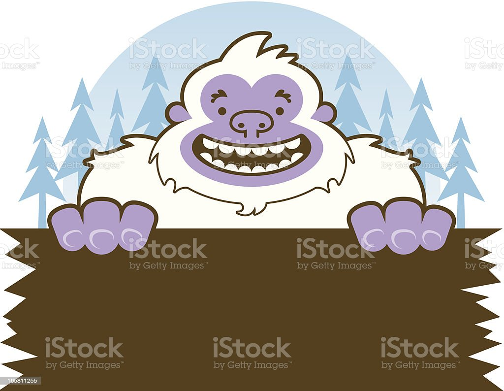 Yeti Sign royalty-free stock vector art