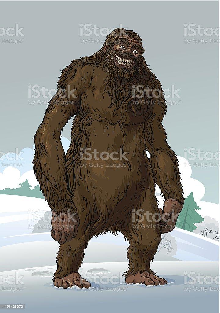 Yeti vector art illustration