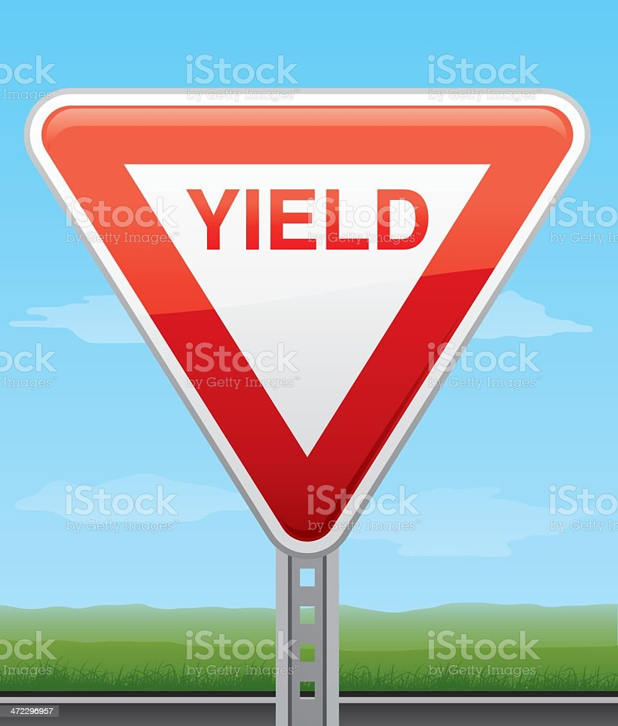 Yield Road Sign royalty-free stock vector art