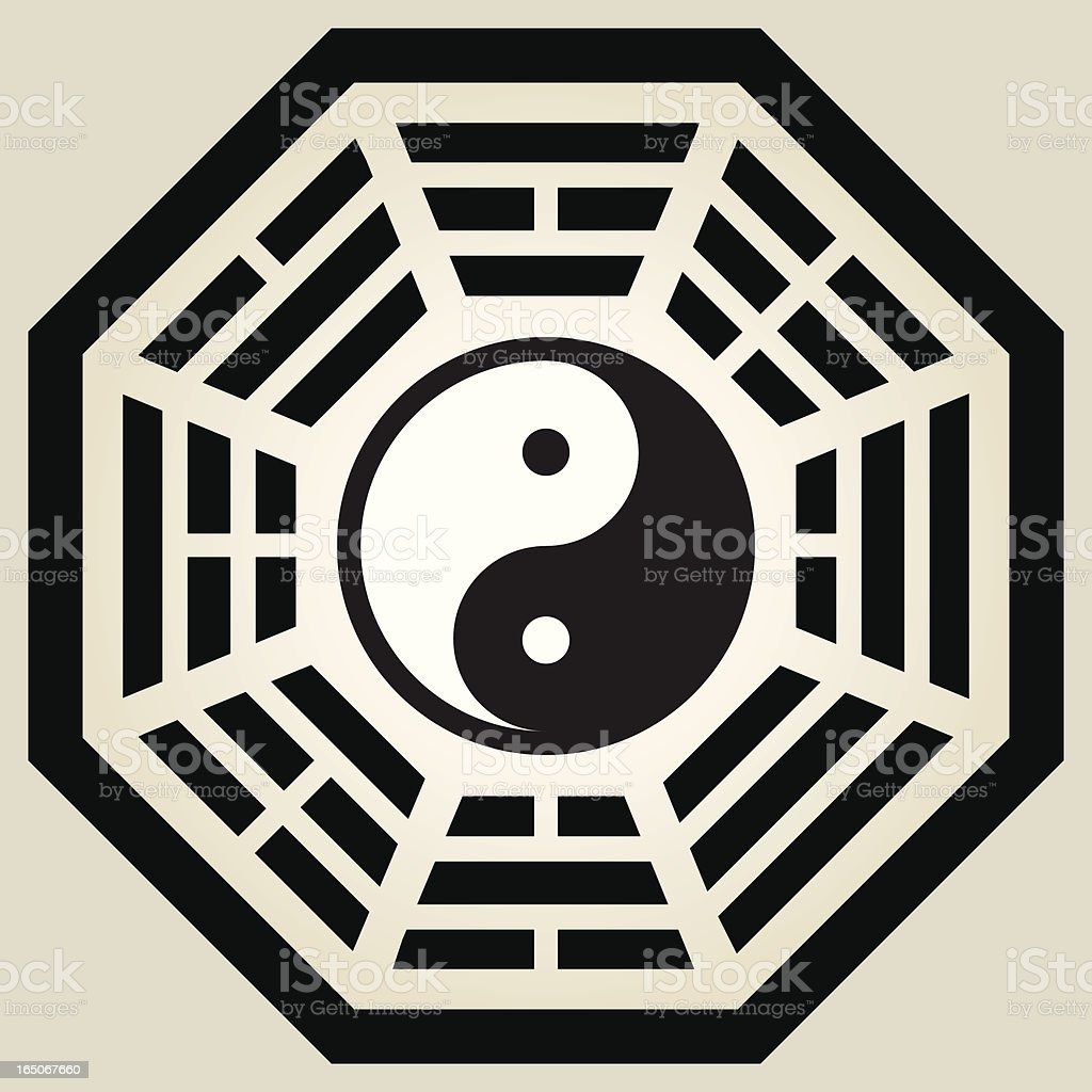 Yin and Yang Bagua royalty-free stock vector art