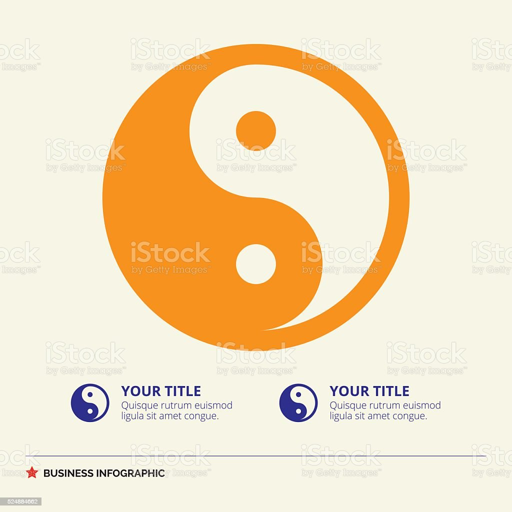 Yin and Yang DiagramTemplate vector art illustration