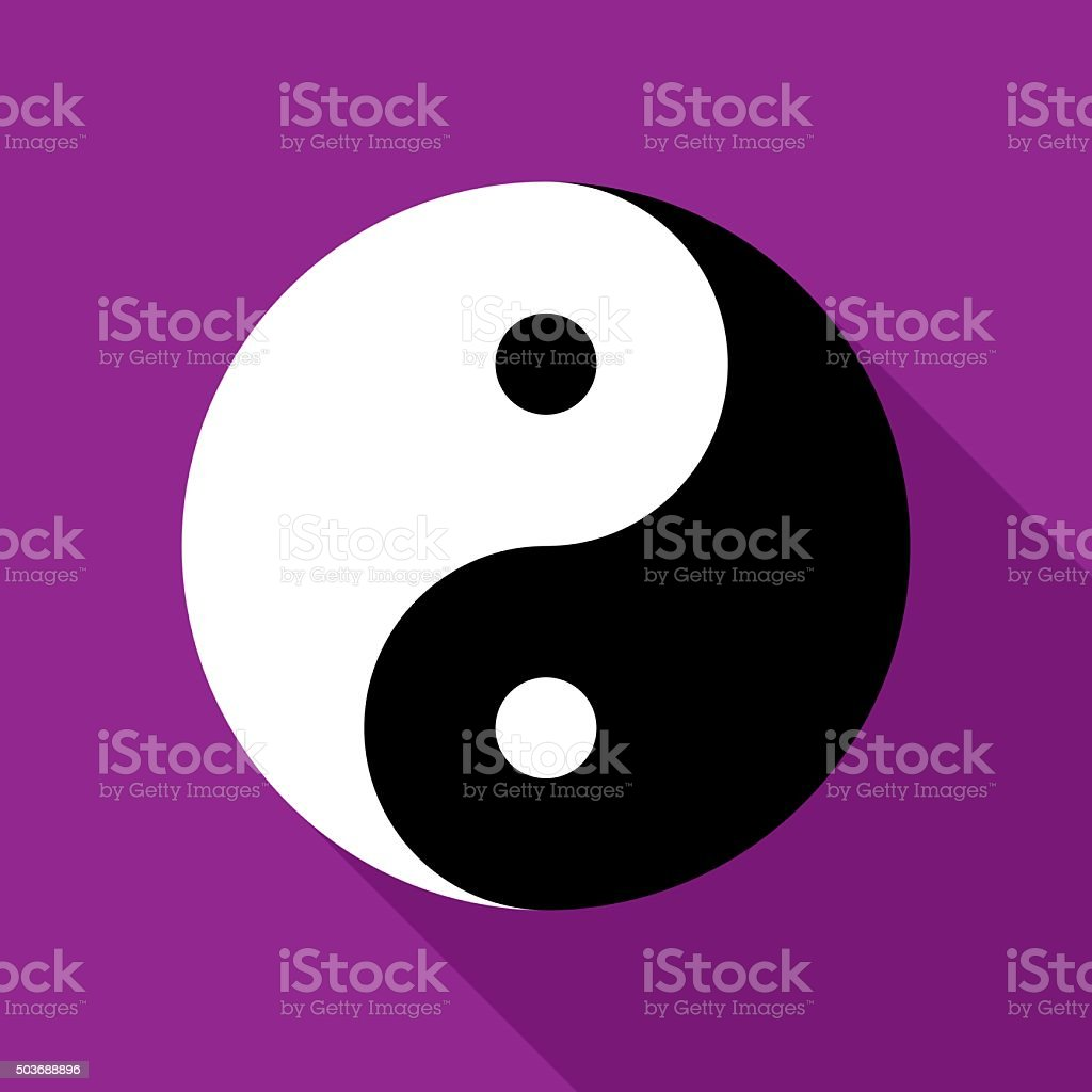 Yin and Yang Icon Flat vector art illustration