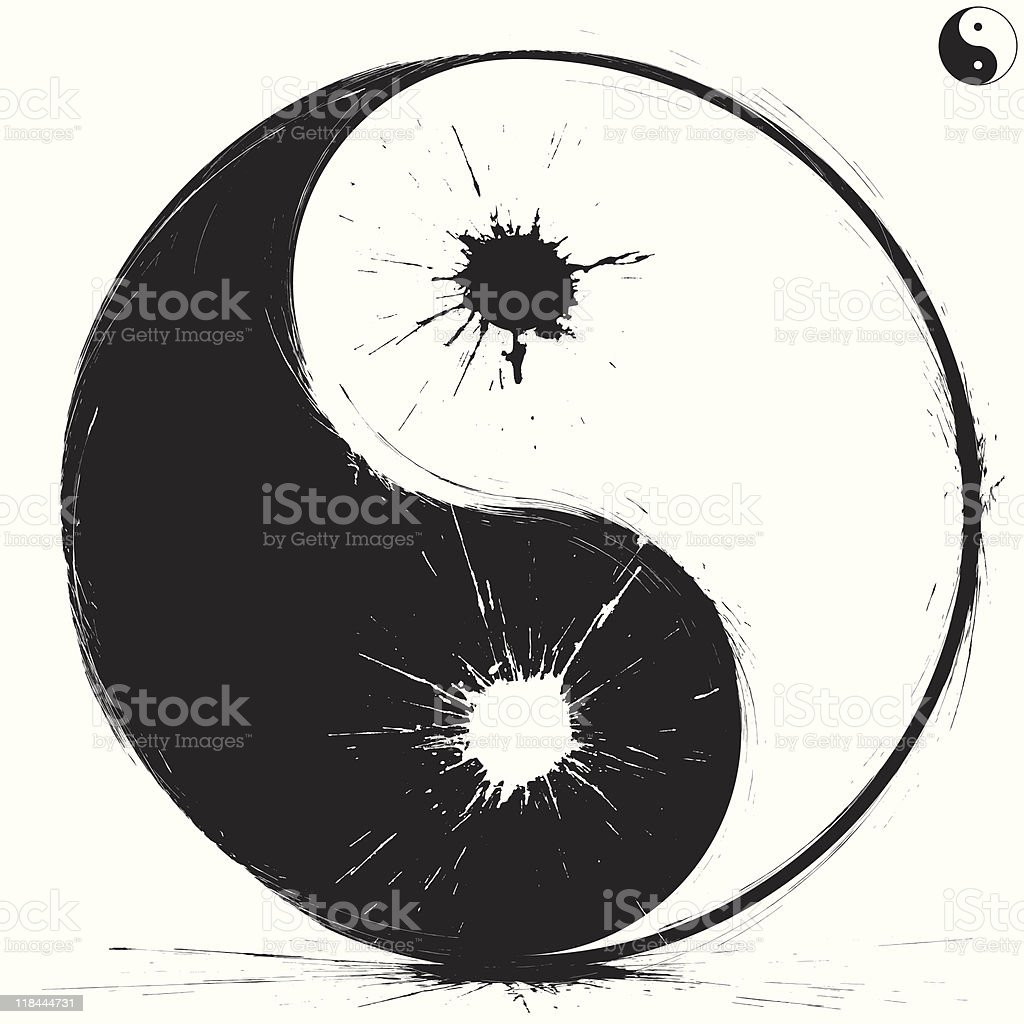 Yin and Yang symbol royalty-free stock vector art