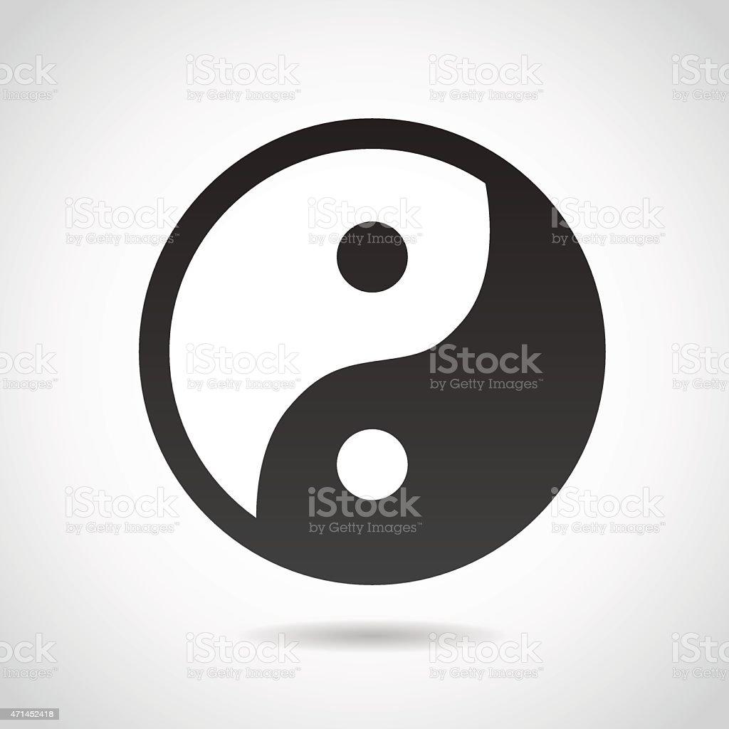 Yin and Yang symbol. vector art illustration