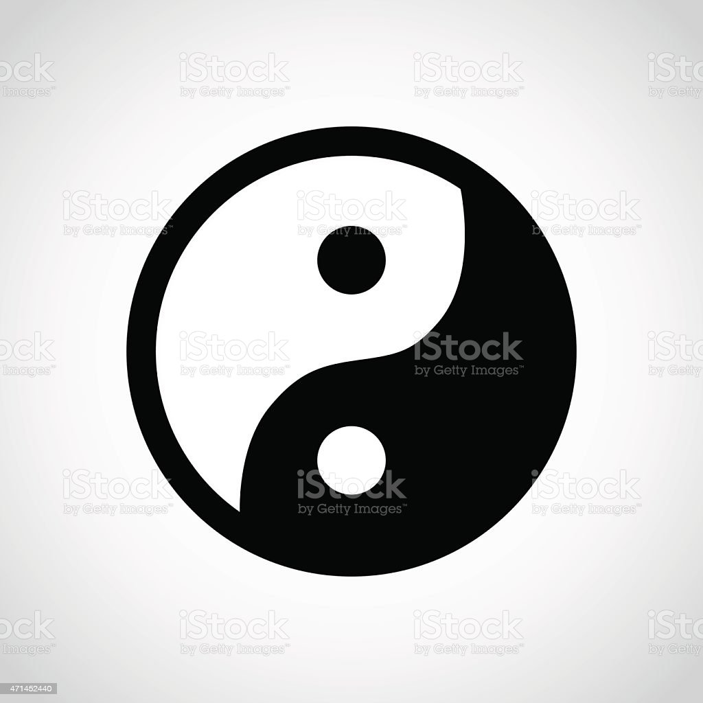 Yin and Yang symbol. vector art illustration