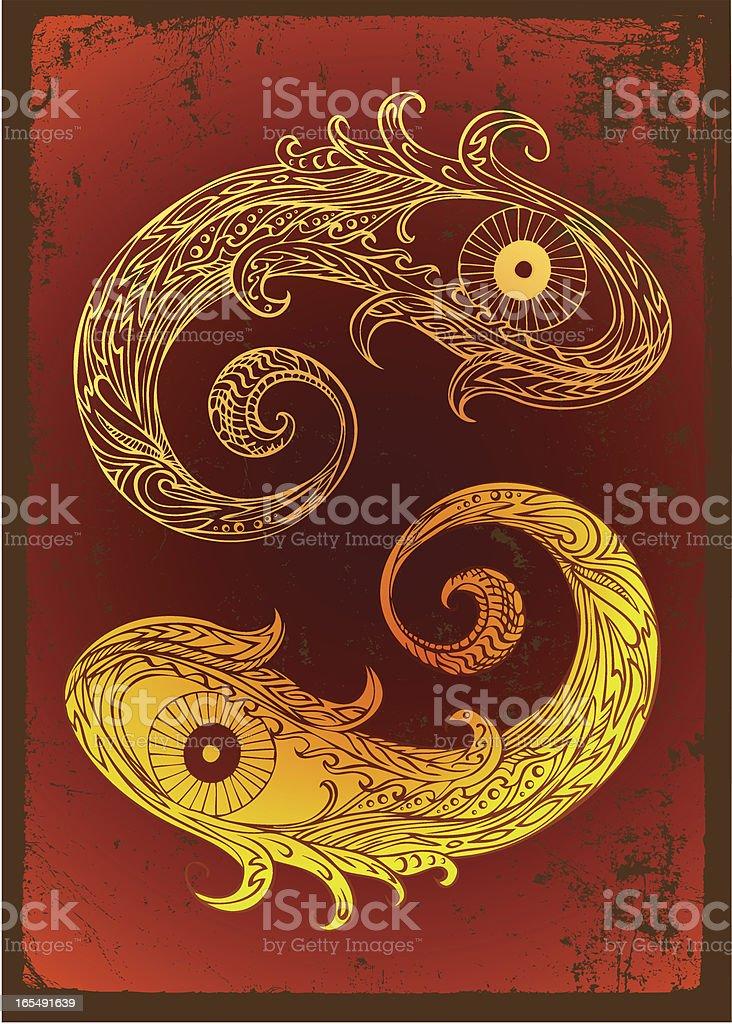 yin und yang Lizenzfreies vektor illustration