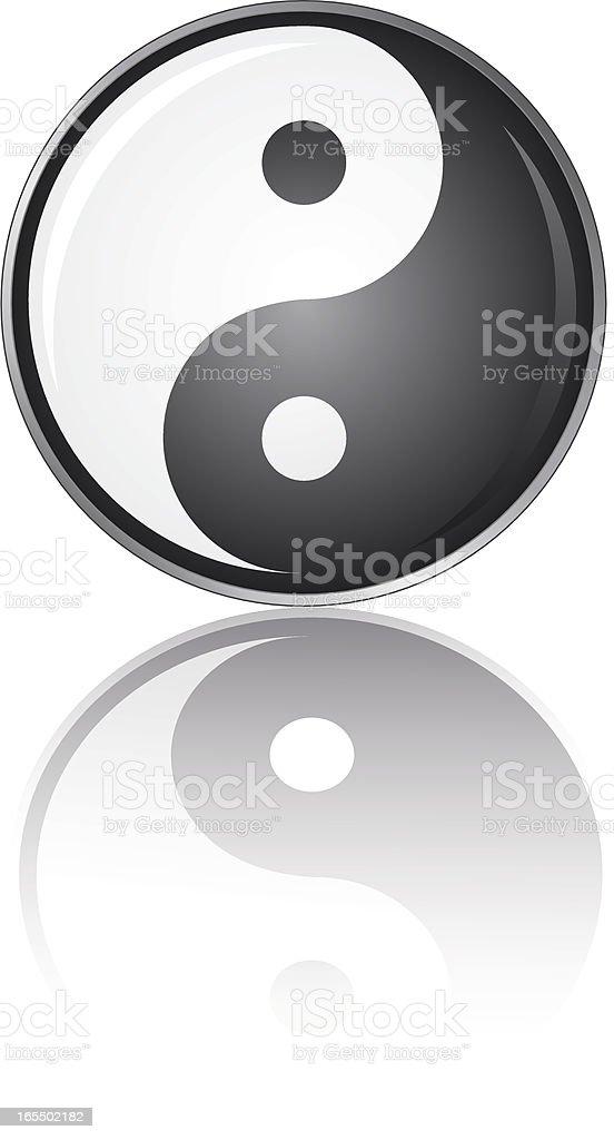 yin & yang button royalty-free stock vector art