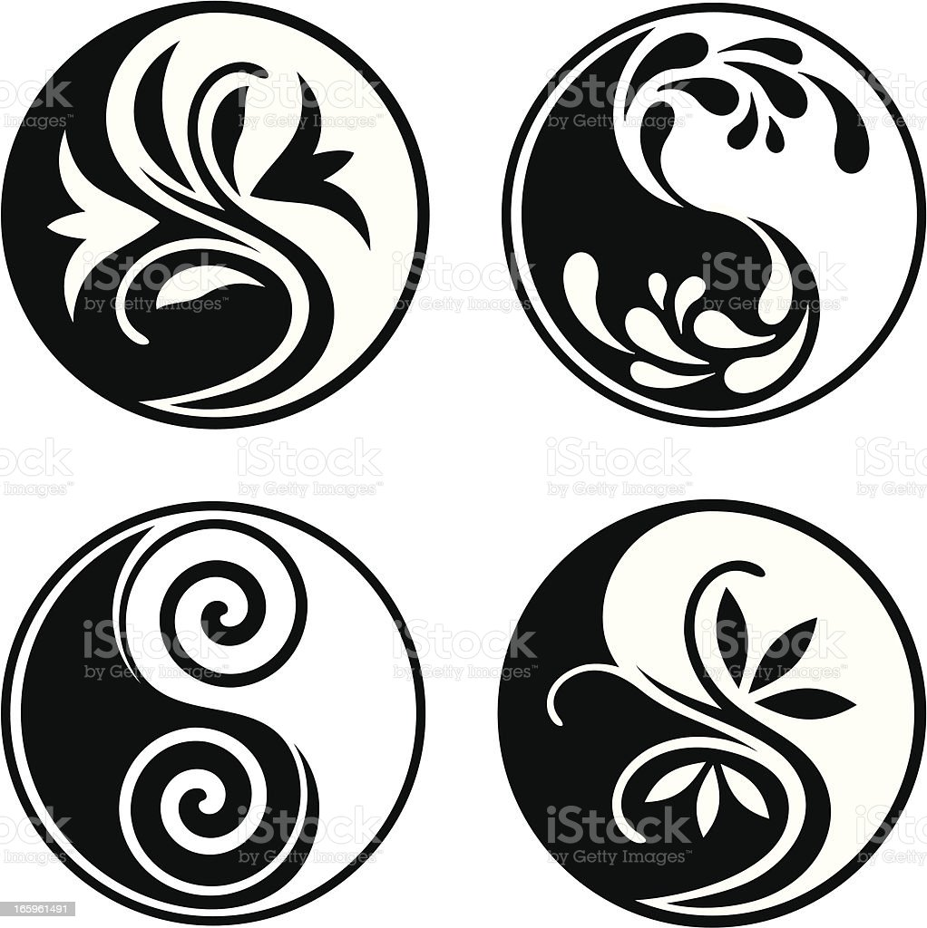 Yin Yang collection royalty-free stock vector art