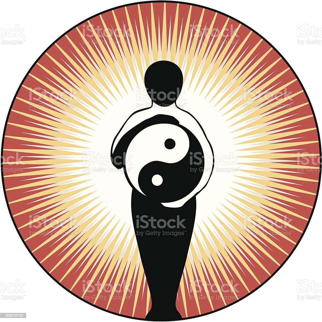 Yin Yang Figure vector art illustration