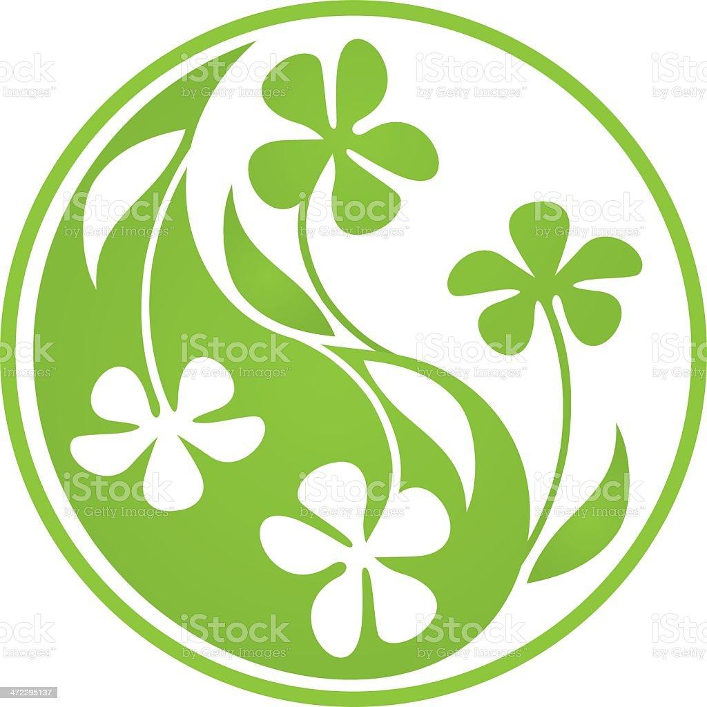 Yin Yang flowers royalty-free stock vector art