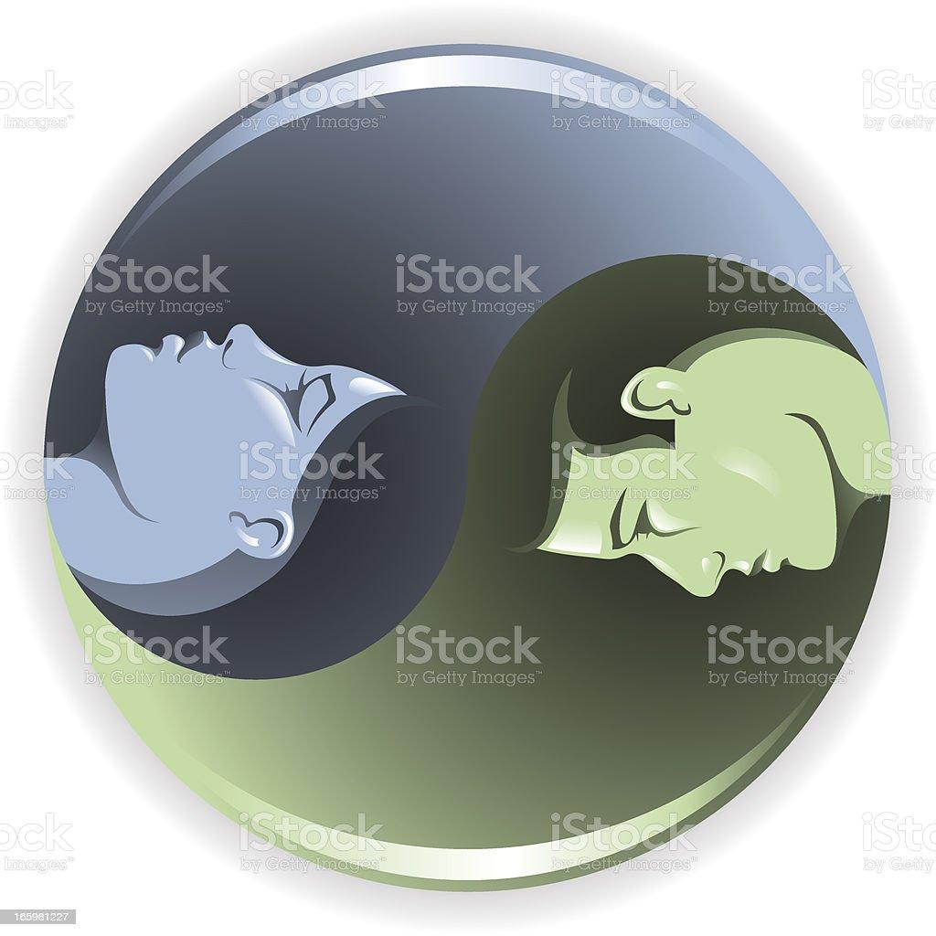 Yin Yang Gender vector art illustration