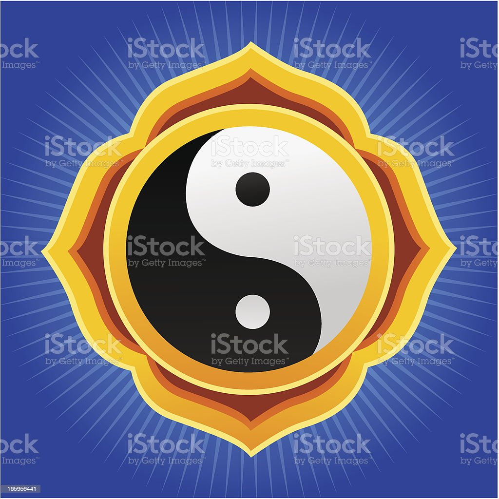 Yin Yang Mandala royalty-free stock vector art