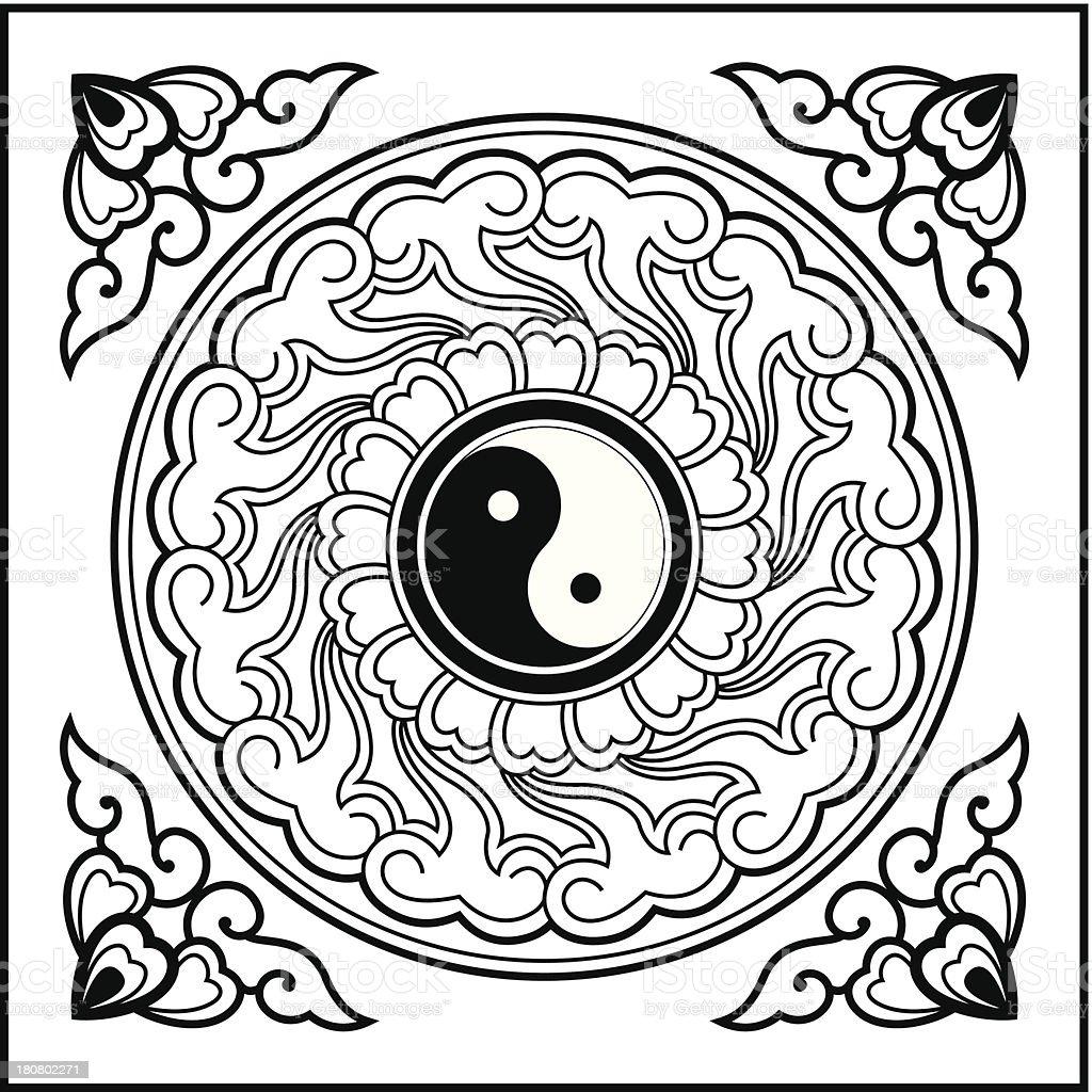 Yin Yang Pattern royalty-free stock vector art